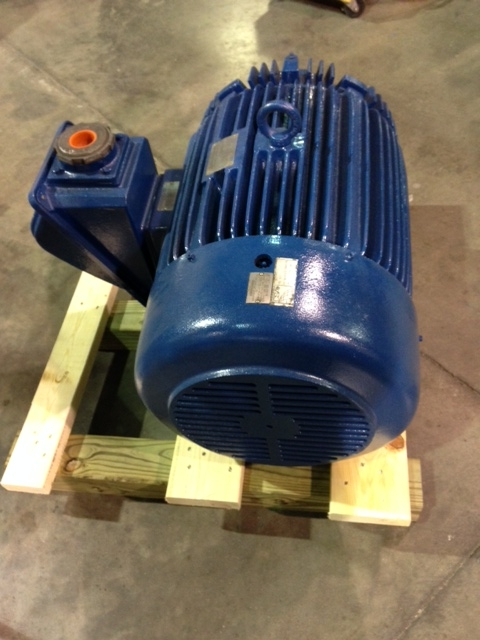 Used 75hp motor for Vogt P24F